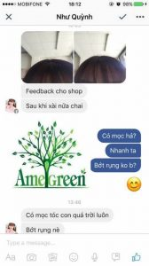 khách hàng nhắn tin khen dầu gội bưởi trị rụng tóc