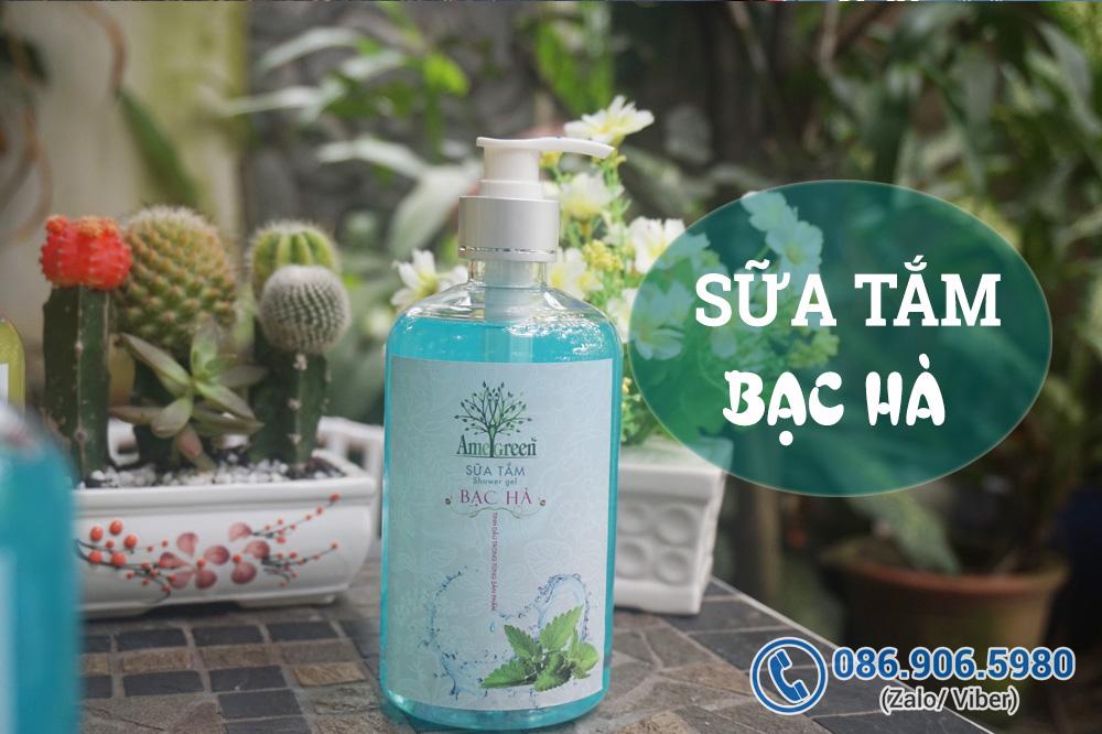 Sữa tắm Bạc Hà AmeGreen (Chai 600ml)