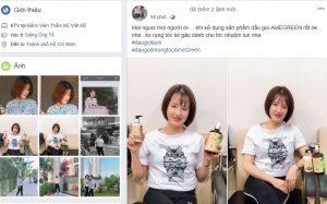 Chị Thuận tự tin về mái tóc  khi dùng dầu gội bưởi