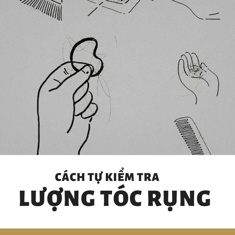 cách kiểm tra lượng tóc rụng tại nhà