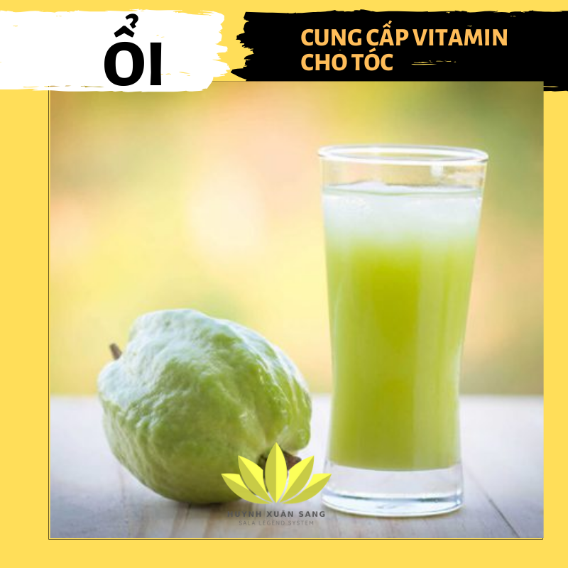 Ổi giàu vitamin C và khoáng chất cho tóc