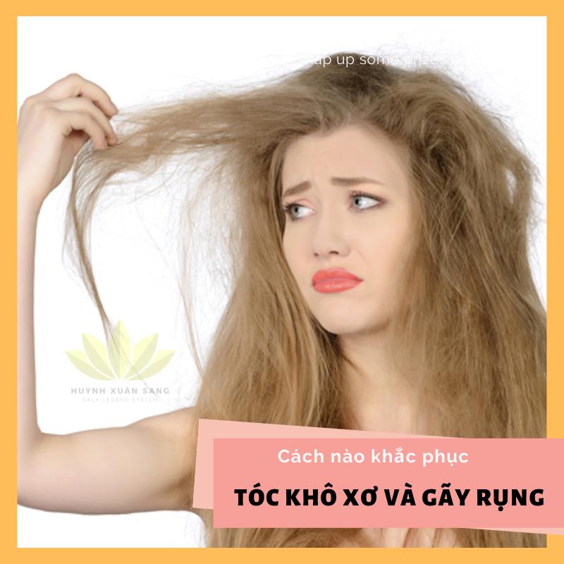 Cách khắc phục tóc khô xơ và gãy rụng