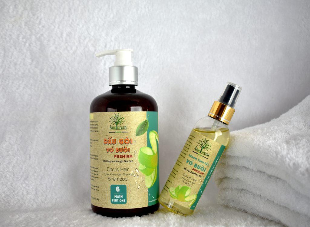 cách chữa rụng tóc nhiều ở nữ giới bằng dầu gội bưởi AmeGreen