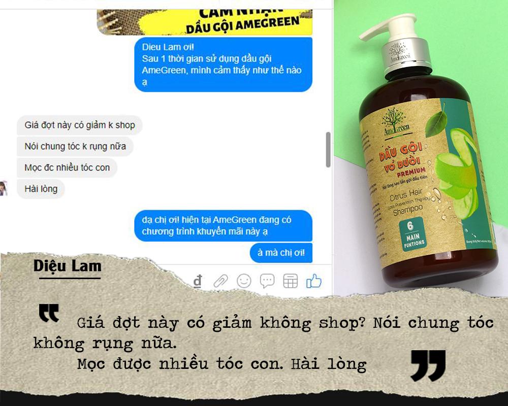 Diệu Lam nói về dầu gội trị rụng tóc AmeGreen