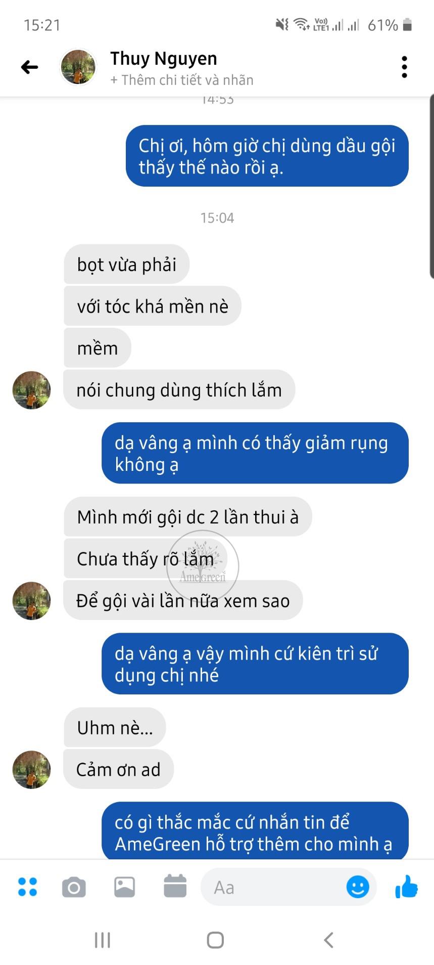 Thúy Nguyễn nói về dầu gội bưởi AmeGreen
