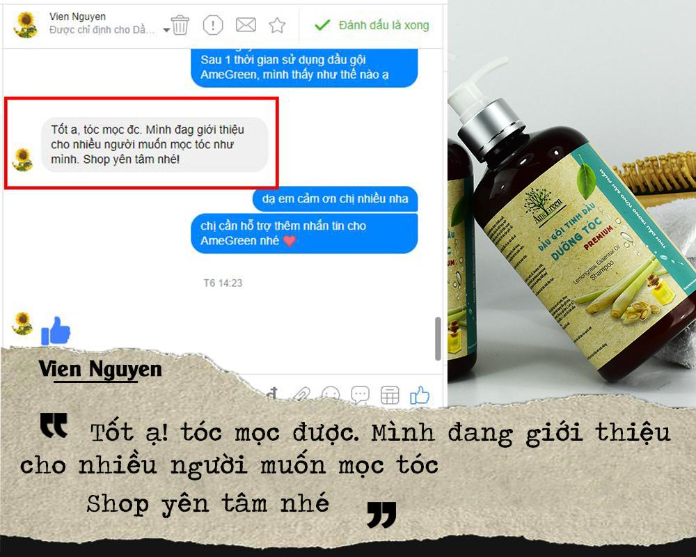 Viên Nguyễn nói về sự tin tưởng khi dùng dầu gội dưỡng tóc cao cấp AmeGreen