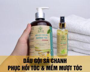 Dầu gội dưỡng tóc sả chanh cao cấp phục hồi tóc hư tổn
